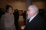 TRACEY EMIN AND SIR PETER BLAKE. 1-10. Waddingtons. Cork St. London. Sir Peter Blake,  18 October 2005. ONE TIME USE ONLY - DO NOT ARCHIVE © Copyright Photograph by Dafydd Jones 66 Stockwell Park Rd. London SW9 0DA Tel 020 7733 0108 www.dafjones.com