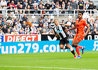 Football - 2021 / 2022 - Pre-Season Friendly - Newcastle United vs Norwich City - St James Park - Saturday 7th August 2021<br /> <br /> Dwight Gayle of Newcastle United scores to make it 2-0 to Newcastle United<br /> <br /> Credit: COLORSPORT/Bruce White