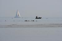 Lazy days off the coast of Bembridge, Isle of Wight