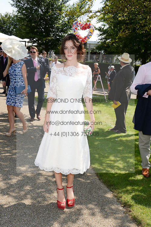 ANNA FRIEL at the 3rd day of the 2013 Glorious Goodwood racing festival - Ladies day at Goodwood Racecourse, West Sussex on 1st August 2013.