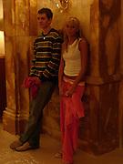 Petra Ecclestone and Nobojsa Bursac, Crillon Debutante Ball. Getting ready. Crillon Hotel. Paris. 27 November 2004. ONE TIME USE ONLY - DO NOT ARCHIVE  © Copyright Photograph by Dafydd Jones 66 Stockwell Park Rd. London SW9 0DA Tel 020 7733 0108 www.dafjones.com
