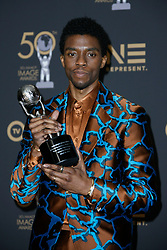 March 30, 2019 - Los Angeles, CA, USA - Hollywood, CA - MAR 30:  Chadwick Boseman at the 50th NAACP Image Awards Press Room at the Dolby Theatre on March 30 2019 in Hollywood CA. Credit: CraSH/imageSPACE (Credit Image: © Crash via ZUMA Wire)