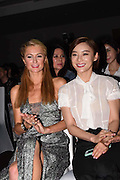 "SHANGHAI, CHINA - JUNE 13: (CHINA OUT) <br /> <br /> American model and actress Paris Hilton (L) and Chinese actress Yuan Shanshan attend a ""Fashion Up\"" activity on June 13, 2016 in Shanghai, China.©Exclusivepix Media"