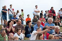 Gledalci na dobrodelni nogometni tekmi ob 65-letnici Sportnega drustva Bilje, izkupicek namenjen Zavodu Lu ter Fundaciji Vrabcek upanja, on July 1, 2011, in Bilje pri Novi Gorici, Slovenia. (Photo by Vid Ponikvar / Sportida)