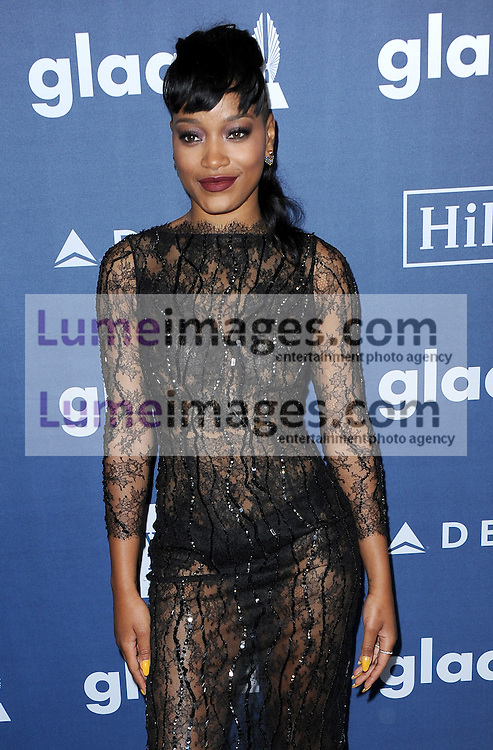 Keke Palmer at the 27th Annual GLAAD Media Awards held at the Beverly Hilton Hotel in Beverly Hills, USA on April 2, 2016.