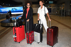Miss France Alicia Aylies and Flora Coquerel arriving at Nice Airport ahead of Cannes Film Festival in Nice, France on May 15, 2019. Photo by Julien Reynaud/APS-Medias/ABACAPRESS.COM