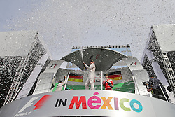 Formel 1: GP von Mexiko 2016 - Rennen in Mexiko-Stadt / 301016<br /> <br /> ***Race winner Lewis Hamilton (GBR) Mercedes AMG F1 celebrates on the podium.<br /> 30.10.2016. Formula 1 World Championship, Rd 19, Mexican Grand Prix, Mexico City, Mexico, Race Day.<br /> Copyright: Moy / XPB Images / action press ***