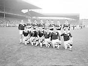 All Ireland Senior Football Final, 22nd September, 1963.Dublin V Galway.The Galway Team defeated by Dublin.Back Row Left to right S. Leyden, M. McDonagh, N. Tierney, M. MacReynolds, M. Moore, M. Newell, E. Colleran and S. Meade..Front Row Left to Right C. Dunne, J. Keenan,  B. Geraghty, M. Garrett Captain, S. B. McDermott, P. Donnellan, S. Donnellan ..22.09.1963  22nd September 1963Dublin.1-9.Galway.0-10..P. Flynn, L. Hickey, L. Foley, W. Casey, D. McKane, P. Holden, M. Kissane, D. Foley (Captain), John Timmons, B. McDonald, Mickie Whelan, G. Davey, S. Behan, D. Ferguson, N. Fox..Sub: P. Downey for P. Holden..D. Foley (Captain).