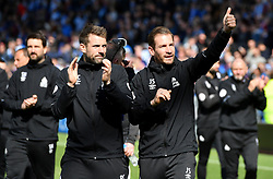 Huddersfield Town manager Jan Siewert salues the fans after the final whistle of the Premier League match at the John Smith's Stadium, Huddersfield.