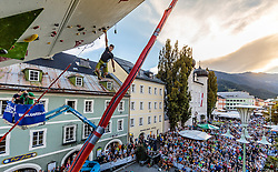 15.08.2016, Hauptplatz, Lienz, AUT, Free Solo Masters, im Bild Sieger Alban Levier (FRA) // Winner Alban Levier (FRA) during the Free Solo Masters at the Hauptplatz in Lienz, Austria on 2016/08/15. EXPA Pictures © 2016, PhotoCredit: EXPA/ JFK