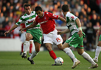 Photo: Rich Eaton.<br /> <br /> Nottingham Forest v Yeovil Town. Coca Cola League 1. Play off Semi Final 2nd Leg. 18/05/2007. No way through for Jack Lester #14 of Forest