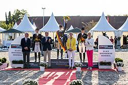 WERTH Isabell (GER), BREDOW-WERNDL von Jessica (GER), SCHNEIDER Dorothee (GER)<br /> Siegerehrung/Meisterehrung<br /> Deutsche Meisterschaft der Dressurreiter<br /> Klaus Rheinberger Memorial<br /> Nat. Dressurprüfung Kl. S**** - Grand Prix Special<br /> Balve Optimum - Deutsche Meisterschaft Dressur 2020<br /> 19. September2020<br /> © www.sportfotos-lafrentz.de/Stefan Lafrentz
