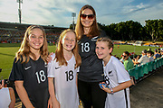 Football Ferns Fans at the Cup of Nations Women's Football match, New Zealand Football Ferns v Matildas, Leichhardt Oval, Thursday 28th Feb 2019. Copyright Photo: David Neilson / www.photosport.nz