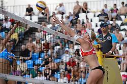 30-05-2015 RUS: FIVB Grand Slam Beach Volleybal, Moskou<br /> Madelein Meppelink en Marleen van Iersel staan in de finale van de eerste Grand Slam van het seizoen. In Moskou wonnen ze de halve finale in twee sets van het Italiaanse Menegatti/ Orsi Toth.