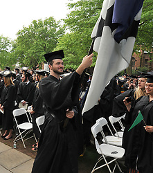 Graduate Smiling with Pride, at the Yale University Commencement 2009. Congregration and Activities before the Ceremony on Cross Campus
