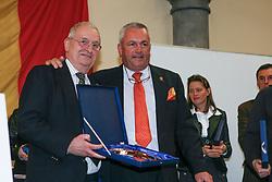 Brasseur Felix, Buchmann Jacky<br /> Kampioenenviering KBRSF Brussel 2006<br /> World Equestrian Games Aachen 2006<br /> Photo © Hippo Foto