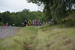 The break approach the end of the third gravel sector at the Crescent Vargarda - a 152 km road race, starting and finishing in Vargarda on August 13, 2017, in Vastra Gotaland, Sweden. (Photo by Sean Robinson/Velofocus.com)