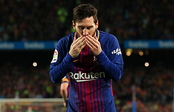May 6, 2018 - Barcelona, Spain - Leo Messi goal celebration during the match between FC Barcelona and Real Madrid CF, played at the Camp Nou Stadium on 06th May 2018 in Barcelona, Spain.  Photo: Joan Valls/Urbanandsport /NurPhoto. (Credit Image: © Joan Valls/NurPhoto via ZUMA Press)
