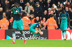 Tottenham Hotspur's Moussa Sissoko (left) appears dejected after the final whistle