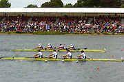 2005 FISA World Cup, Dorney Lake, Eton, ENGLAND, 28.05.05. GBR W4X Bow  Rebecca Romero, Sarah Winckless, Frances Houghton and kath Grainger, winning the final and medal presentation. .Photo  Peter Spurrier. .email images@intersport-images....[Mandatory Credit Peter Spurrier/ Intersport Images] , Rowing Courses, Dorney Lake, Eton. ENGLAND