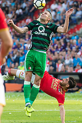 Robin van Persie of Feyenoord, Alireza Jahanbakhsh of AZ during the Dutch Toto KNVB Cup Final match between AZ Alkmaar and Feyenoord on April 22, 2018 at the Kuip stadium in Rotterdam, The Netherlands.
