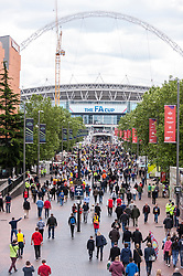 © Licensed to London News Pictures. 30/05/2015. London, UK. Wembley Way is crowded as fans gather at Wembley Stadium for the FA Cup Final 2015, between Arsenal and Aston Villa. Photo credit : Stephen Chung/LNP