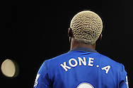 Arouna Kone of Everton .Barclays Premier League match, Stoke city v Everton at the Britannia Stadium in Stoke on Trent , Staffs on Wed 4th March 2015.<br /> pic by Andrew Orchard, Andrew Orchard sports photography.