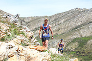 Jade Muller of Wolf Pack 1 crests a climb ahead of his teammate Warren Dickson during Stage 1 of the Fairview Dryland Traverse, on the 4th of November 2016.<br /> <br /> <br /> Photo by: Oakpics/Fairview Dryland Traverse/SPORTZPICS<br /> <br /> <br /> {dem16gst}