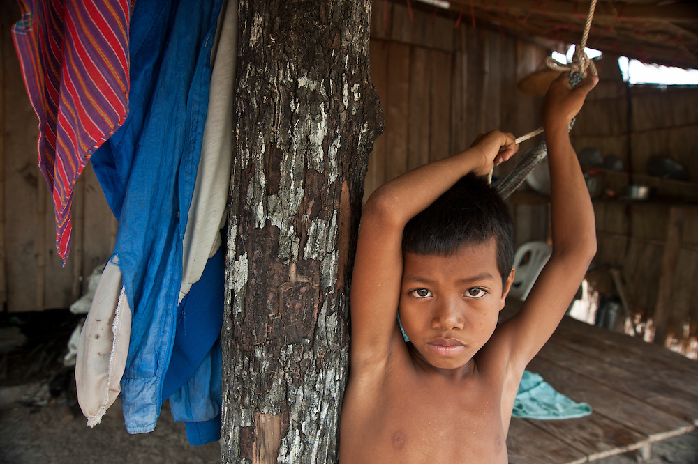 Sampov Lun district/ Partner is ADOVIR. A young boy in his home.
