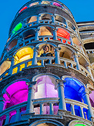 Armenian Artist Narine Arakelian transforms the iconic spiral staircase of the Palazzo Contarini del Bovolo into a multi-coloured lighthouse that is visible across the city for the Armenian Pavilion. The art installation, named The Pharos Flower is part of the City of Venice's official programme of events for the 58th Biennale, and is the second time that Narine has appeared at the Biennale. It is curated by Pier Paolo Scelsi.