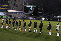 Rugby Union - 2020 / 2021 ER Challenge Cup - Quarter-final - Bath vs London Irish - The Recreation Ground<br /> <br /> A two minutes silence before kick off in remembrance of HRH Prince Philip, The Duke of Edinburgh.<br /> <br /> Credit : COLORSPORT/ANDREW COWIE