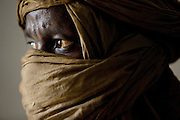 A tuareg man in headscarf in Djenné, Mali
