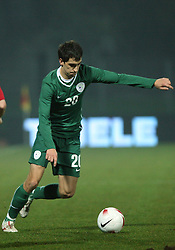 Branko Ilic of Slovenia during the UEFA Friendly match between national teams of Slovenia and Denmark at the Stadium on February 6, 2008 in Nova Gorica, Slovenia. Slovenia lost 2:1. (Photo by Vid Ponikvar / Sportal Images).