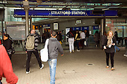 Stratford railway station entrance, Newham, London