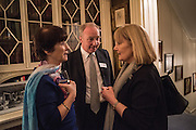 THE DUCHESS OF BUCCLEUCH, THE DUKE OF BUCCLEUCH, The Walter Scott Prize for Historical Fiction 2015 - The Duke of Buccleuch hosts party to for the shortlist announcement. <br /> The winner is announced at the Borders Book Festival in Scotland in June.John Murray's Historic Rooms, 50 Albemarle Street, London, 24 March 2015.