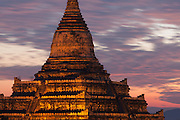 Shwesandaw Pagoda and moving clouds and light, Bagan