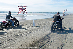Sand drags on the beach for the Race of Gentlemen. Wildwood, NJ, USA. October 10, 2015.  Photography ©2015 Michael Lichter.