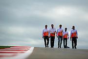 Nov 15-18, 2012: Nico Hulkenberg and Force India F1 team track walk.© Jamey Price/XPB.cc