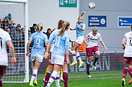 Manchester City Women defender Steph Houghton (captain) (6) heads the ball during the FA Women's Super League match between Manchester City Women and West Ham United Women at the Sport City Academy Stadium, Manchester, United Kingdom on 17 November 2019.