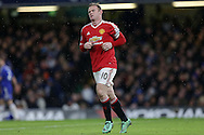 Wayne Rooney, the Manchester United captain looks on. Barclays Premier league match, Chelsea v Manchester Utd at Stamford Bridge in London on Sunday 7th February 2016.<br /> pic by John Patrick Fletcher, Andrew Orchard sports photography.