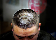 TAIYUAN, CHINA -  CHINA OUT<br /> <br /> Crazy hairstyle's<br /> <br /> A man shows his Wi-Fi hairstyle in Wuhan, Hubei Province of China. Wi-Fi is more popular in the modern lifestyle.<br /> ©Exclusivepix