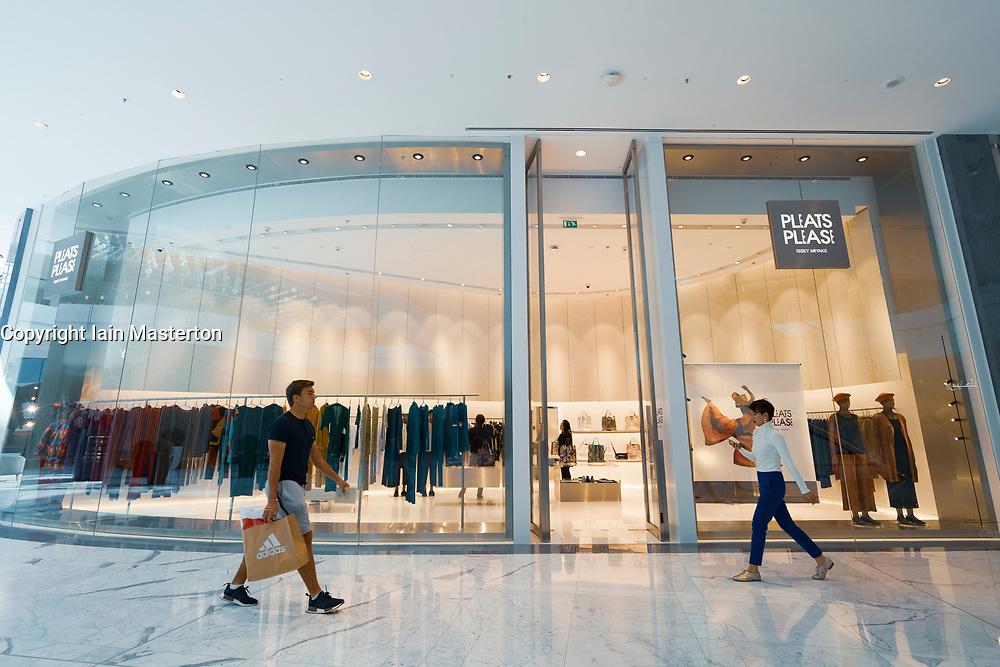 Pleats Please boutique by Issey Miyake at Dubai Mall Fashion Avenue , Downtown Dubai, United Arab Emirates