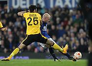 Steven Naismith of Everton scores the third goal - UEFA Europa League - Everton vs  Lille - Goodison Park Stadium - Liverpool - England - 6th November 2014 - Pic Simon Bellis/Sportimage