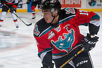 KELOWNA, CANADA - NOVEMBER 5: Rodney Southam #17 of the Kelowna Rockets skates against the Medicine Hat Tigers on November 5, 2016 at Prospera Place in Kelowna, British Columbia, Canada.  (Photo by Marissa Baecker/Shoot the Breeze)  *** Local Caption ***