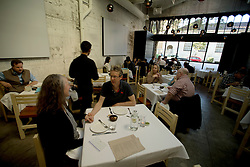 Patrons dine at Cala, the first U.S. restaurant from Mexican chef Gabriela Camara, Monday, April 4, 2016, in San Francisco, Calif. (Photo by D. Ross Cameron)