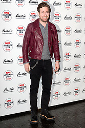 © Licensed to London News Pictures. 17/02/2016. RICKY WILSON arrives at the NME Awards 2016 with Austin, Texas.  Previous winners of NME's Godlike Genius Award include Suede, Blondie, The Clash, Paul Weller, The Cure, Manic Street Preachers, New Order & Joy Division, Dave Grohl, Noel Gallagher and Johnny Marr.  London, UK. Photo credit: Ray Tang/LNP