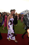 Ghislaine Maxwell and possible bodyguard ?  La Dolce Vita, Stowe House, Silverstone, 19 July 2003.