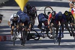 July 4, 2017 - Mondorf Les Bains / Vittel, Luxembourg / France - VITTEL, FRANCE - JULY 4 : SAGAN Peter (SVK) Rider of Team Bora - Hansgrohe - Crash DEGENKOLB John (GER) Rider of Trek - Segafredo, CAVENDISH Mark (GBR) Rider of Team Dimension Data during stage 4 of the 104th edition of the 2017 Tour de France cycling race, a stage of 207.5 kms between Mondorf-Les-Bains and Vittel on July 04, 2017 in Vittel, France, 4/07/2017 (Credit Image: © Panoramic via ZUMA Press)