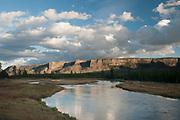Madison river during morning, Yellowstone National Park, Wyoming.