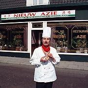 Dhr. Wong winnaar kookwedstrijd China eigenaar Nieuw Azie havenstraat Huizen